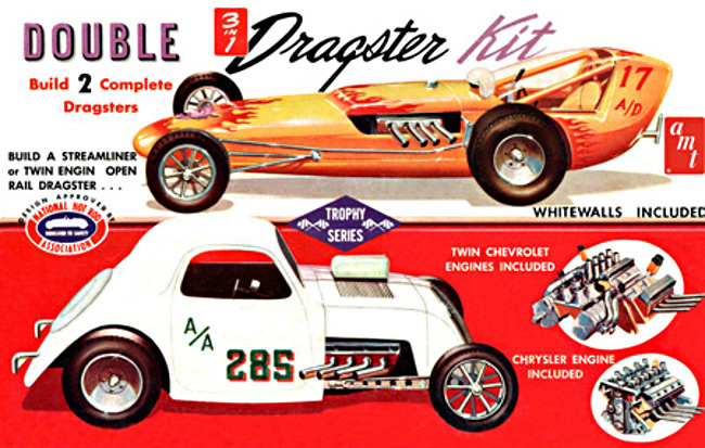 AMT646 1/25 SCALE DOUBLE DRAGSTER