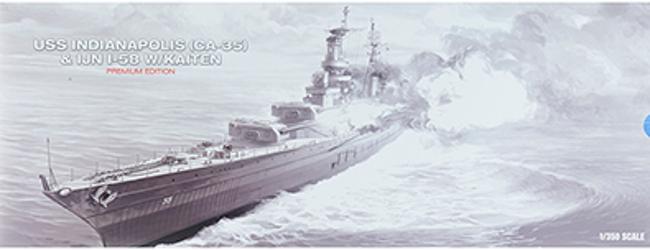 1:350 SCALE BATTLESHIP USS INDIANAPOLIS CA-35 : ACY14113