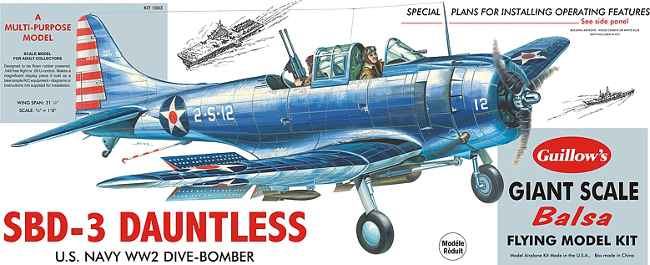 Guillows Douglas SBD-3 Dauntless