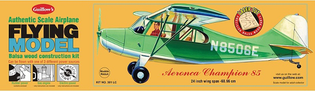 Guillows Aeronca Champion Wood Airplane Kit