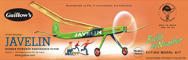 Guillows Javelin Build By Number Wood Airplane Kit