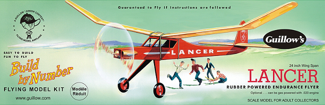 Guillows Lancer Build by Number Easy build wood airplane kit