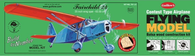 Guillows Fairchild 24 Wood Airplane Kit