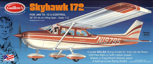 Guillows Cessna Skyhawk Balsa Wood Airplane Kit